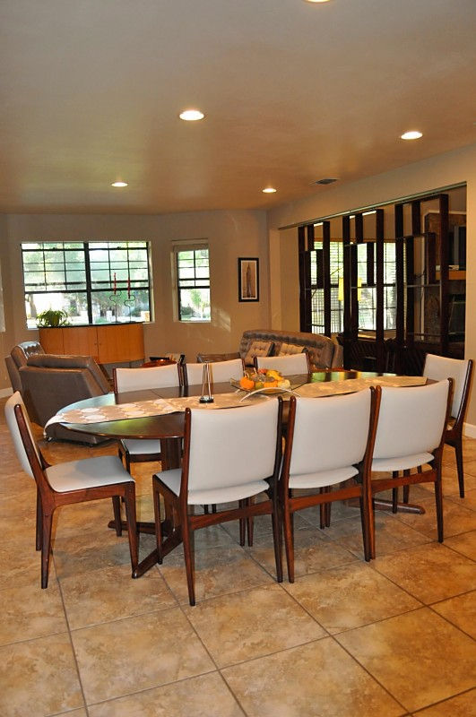 As You Can See In This First Picture, The Mid Century Modern Screens Define  The Space. There Used To Be A 1/2 Wall With Oak Cabinets Facing The Family  Room ...